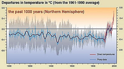 IPCC hockey stick graph